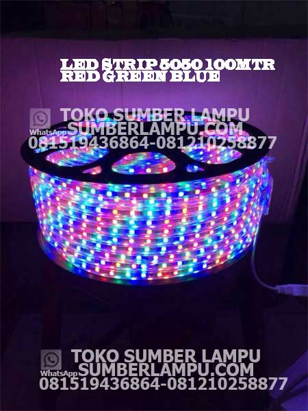 lampu led strip 5050 rgb 100 meter