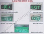 Lampu Emergency EXIT model kaca atau mika