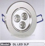 lampu LED ceiling 3w