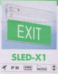 Lampu Emergency EXIT SLED x1