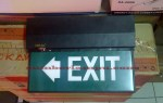 Lampu Emergency EXIT TOP FLASH Inbow Outbow Box & Mata Kucing