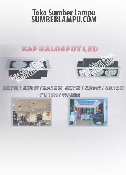 Lampu LED model KAP Halospot