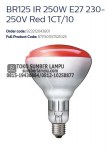 lampu infrared philips br125