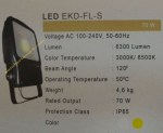 Lampu Sorot LED 70watt Floodlight CRI > 80