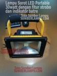 Lampu Sorot LED Emergency 30watt Portable
