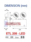 Lampu Emergency Samcom ETL-208 LED