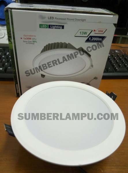 Lampu Downlight 13watt 6in Recessed VIP 4000K